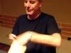 Anthony Bourdain checks out the bag of hormigas culonas