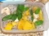 Dragon fruit, golden kiwi, lychee and jackfruit salad