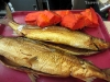 House-smoked whitefish and barbecued cod