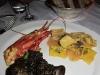Seafood risotto and agnolotti Del Plin