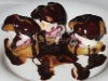 Profiterole, ice cream-filled puff pastries