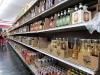 Latin American sodas on the bottom shelf