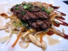Tender hibachi steak with mushrooms and crunchy vegetables