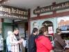 The line for the famous æbleskiver at Solvang Restaurant