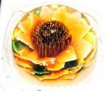 A hand made gelatin flower