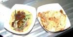 Duck taco and spicy tofu mulita
