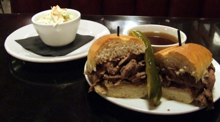 French dip sandwich and Coles slaw at Coles