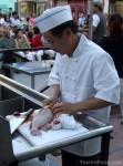 Chef Sito of Golden Dragon prepares steamed rock cod