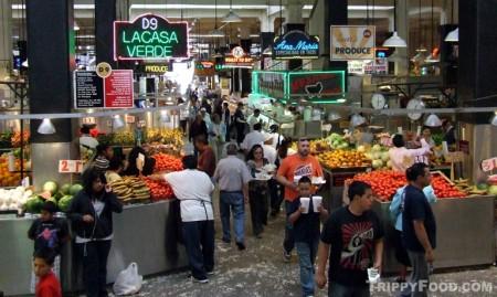 Center aisle of Grand Central Market