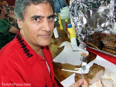 That is one tasty pork chop