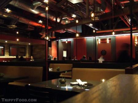 Sleek and modern dining area