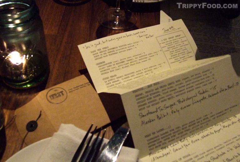Menus in Brown Envelopes
