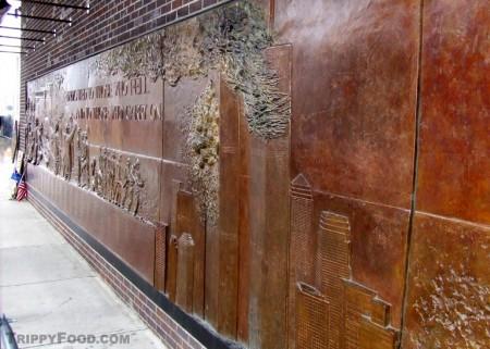 The September 11 memorial on the side of Ten House