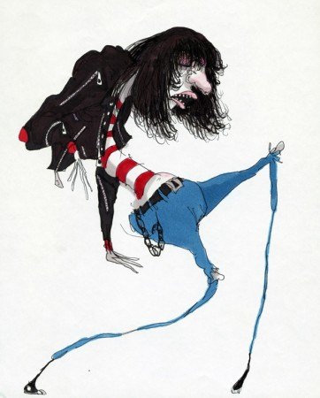 Untitled (Ramone), 1980 - 1990, Tim Burton (© Tim Burton)
