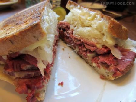 #3 - corned beef with Swiss cheese and sauerkraut