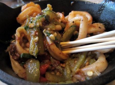 Spicy sautéed calamari