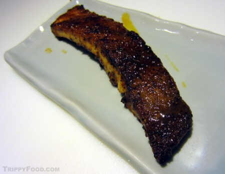 Pan-fried pacu rib meat