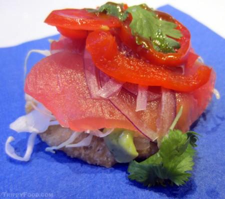 Fresh ahi tuna tostada