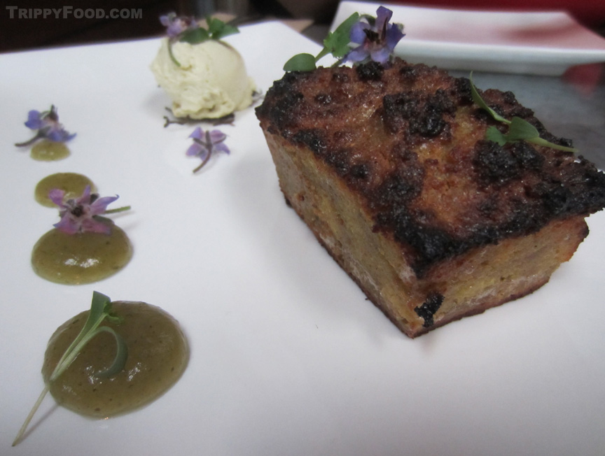 Dessert for dinner - cornbread pudding as a starter