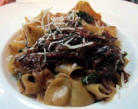 Pappardelle al Cinghiale (wild boar pasta)