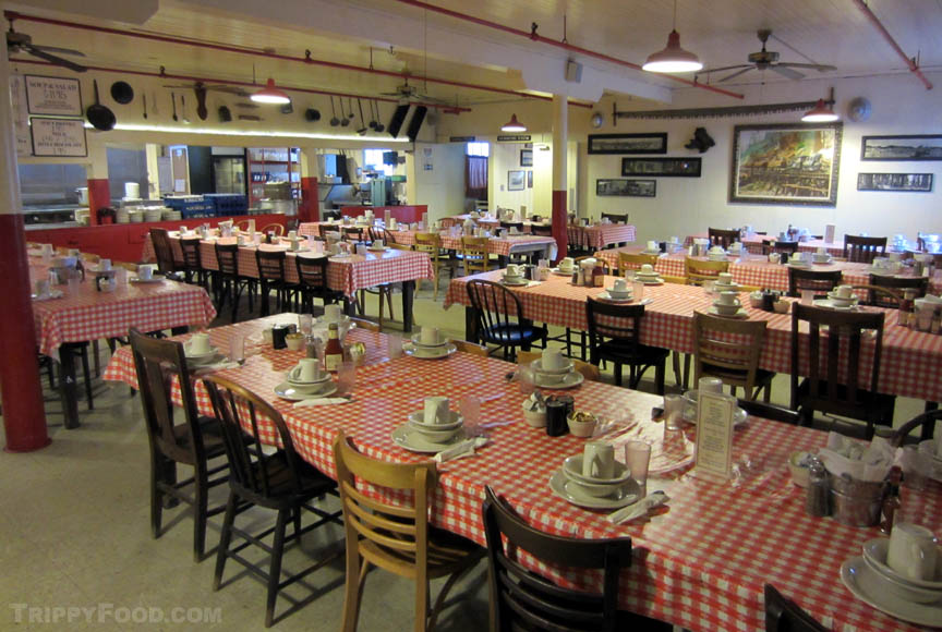 Communal dining, sawmill-style