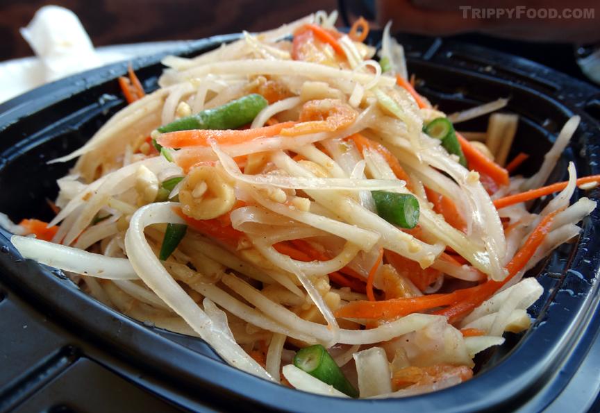 Papaya salad - like the green tree viper, beautiful and deadly