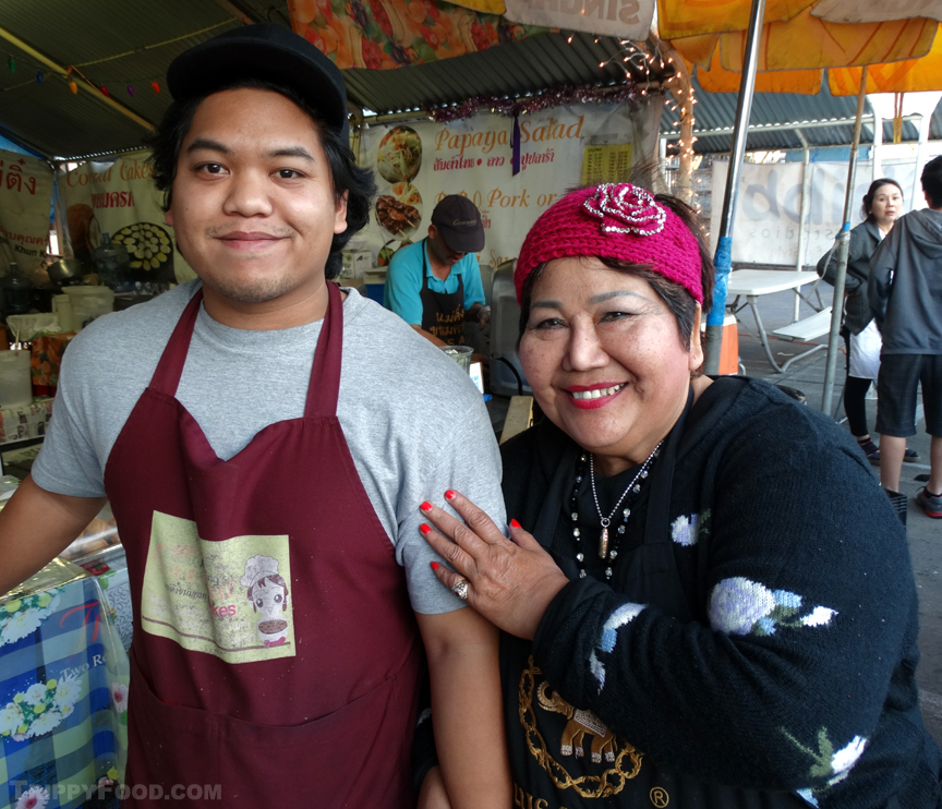 Proprietor Mae Ting and son Matthew